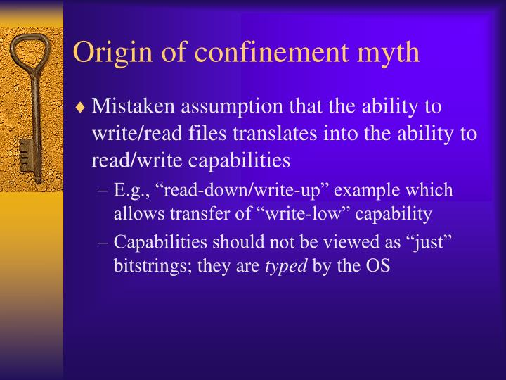 Origin of confinement myth