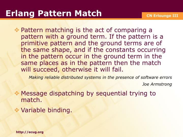 Erlang Pattern Match