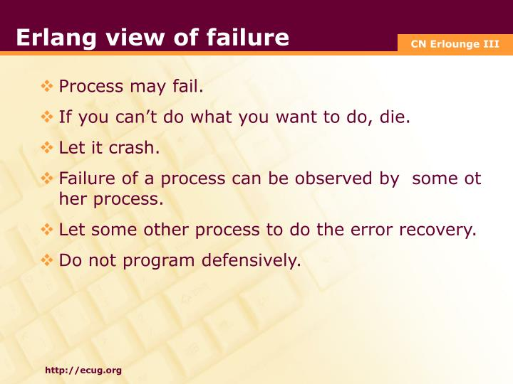 Erlang view of failure