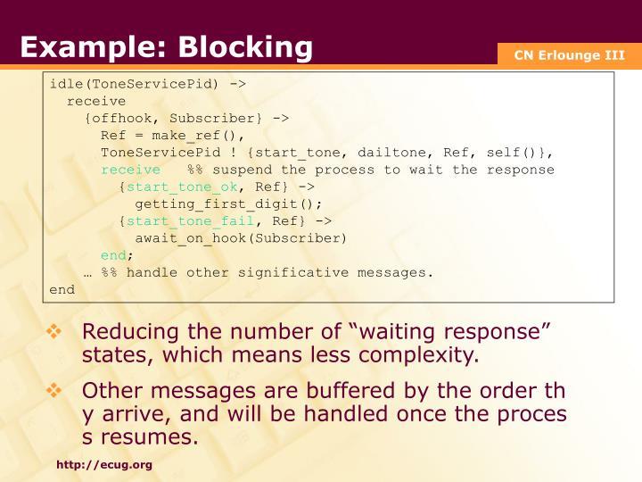 Example: Blocking