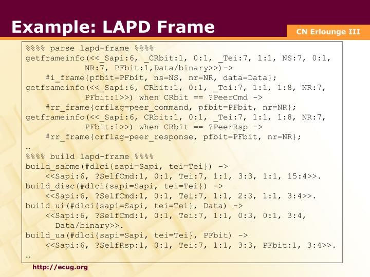 Example: LAPD Frame