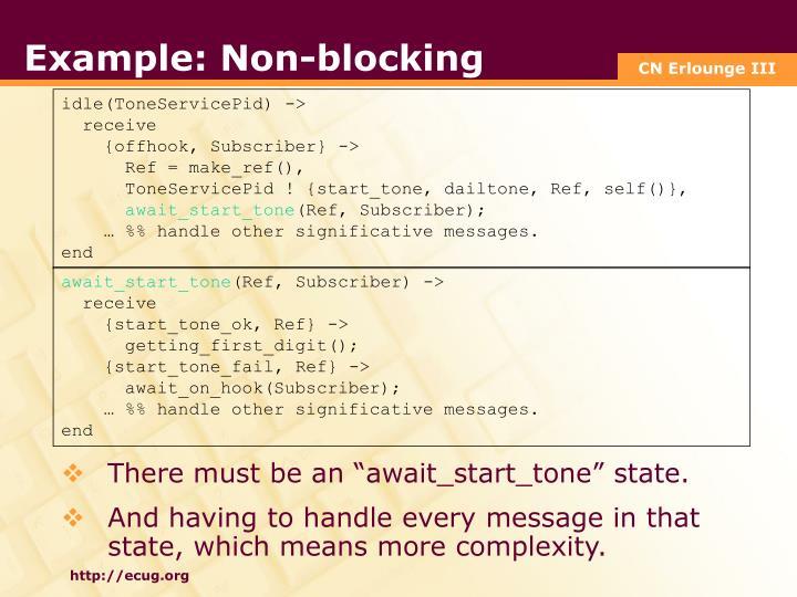 Example: Non-blocking