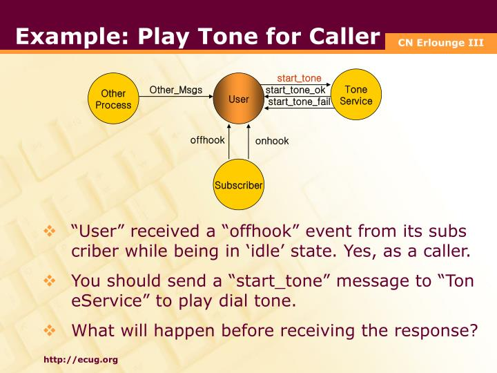 Example: Play Tone for Caller