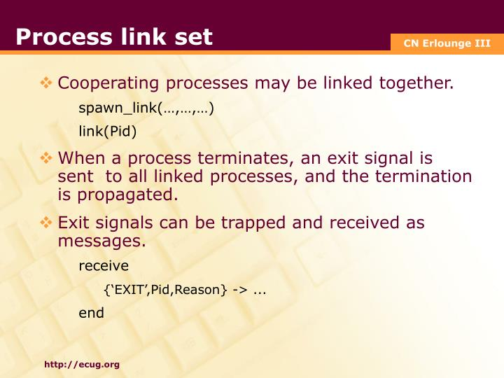 Process link set