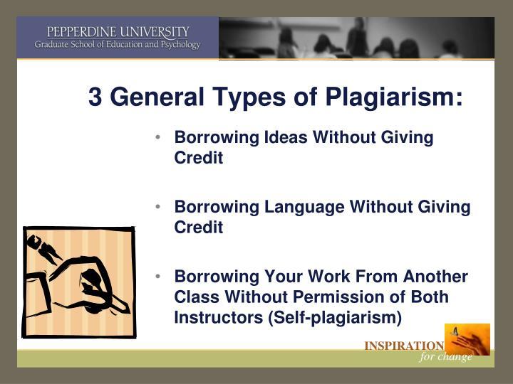 3 General Types of Plagiarism:
