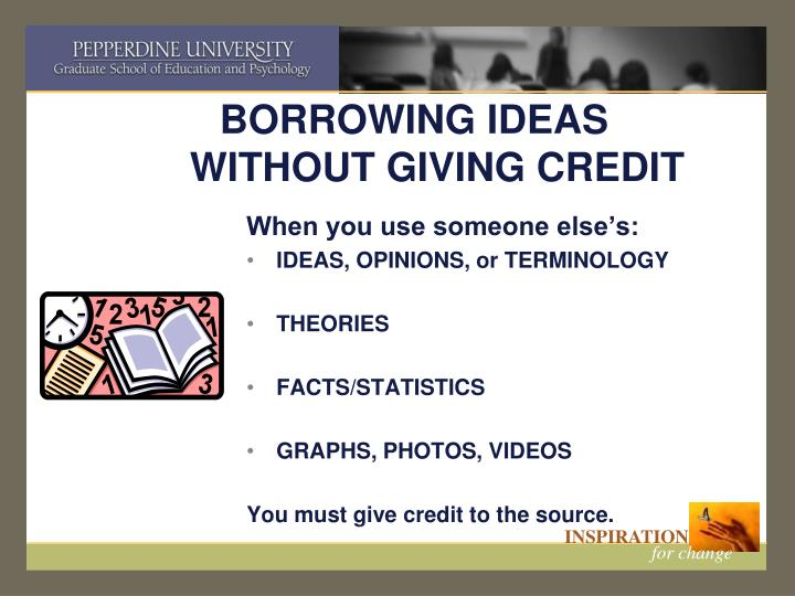BORROWING IDEAS WITHOUT GIVING CREDIT