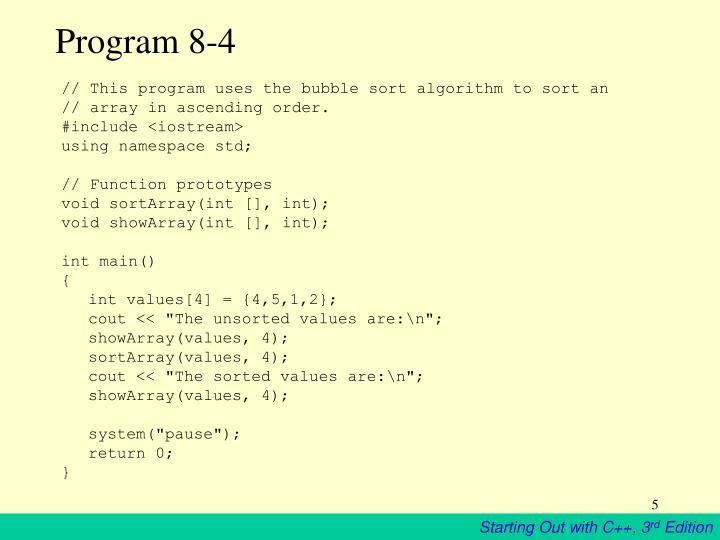 Program 8-4