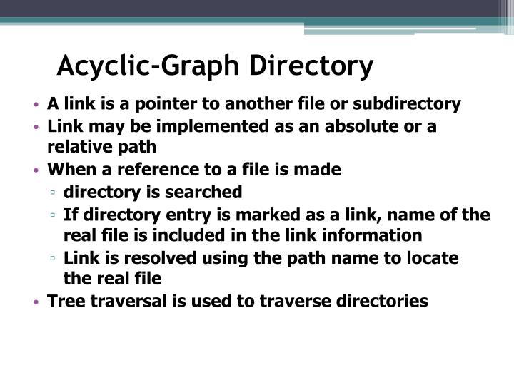 Acyclic-Graph Directory