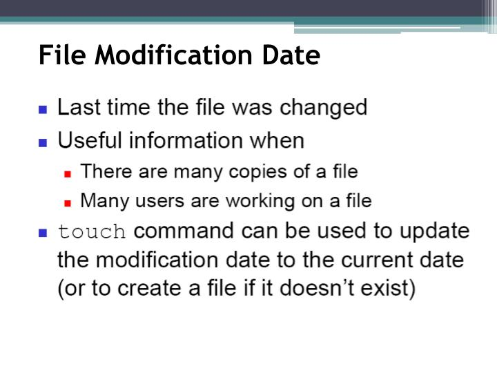 File Modification Date