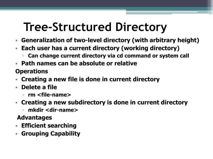Tree-Structured Directory