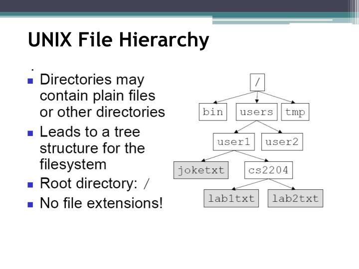 UNIX File Hierarchy