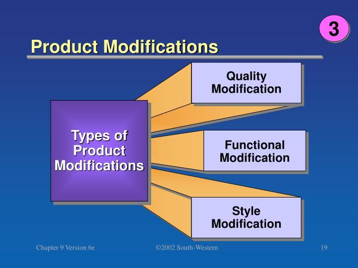 Quality Modification