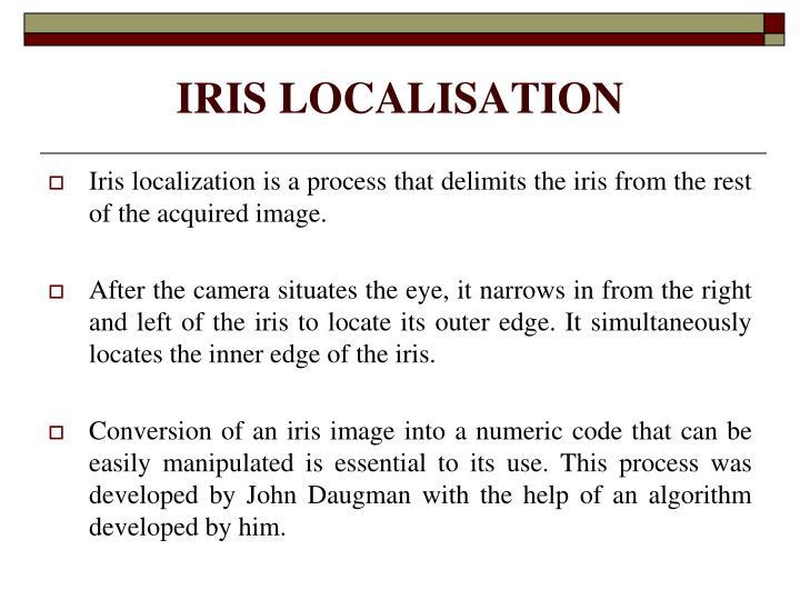 IRIS LOCALISATION