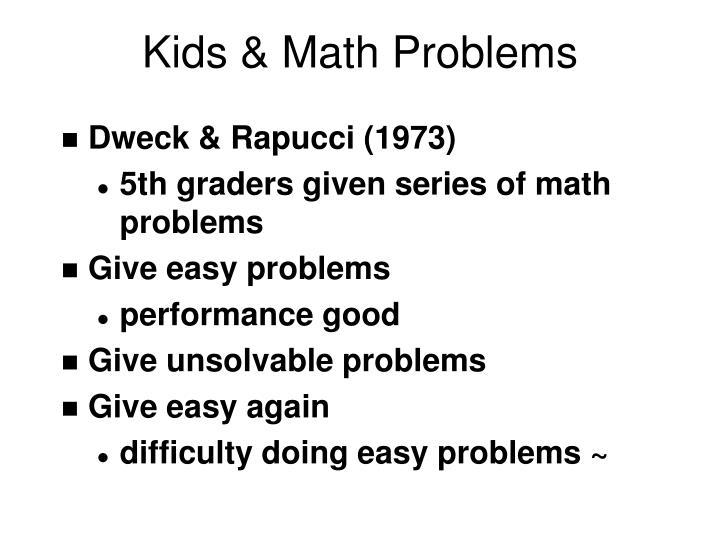 Kids & Math Problems