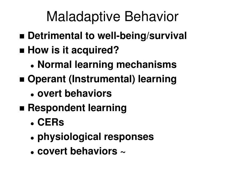 Maladaptive Behavior