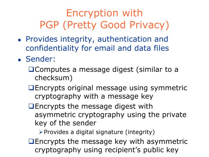 Encryption with