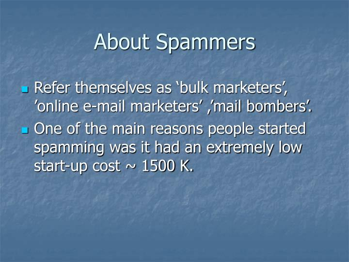 About Spammers