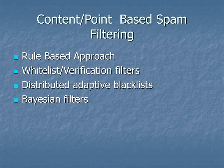 Content/Point  Based Spam Filtering