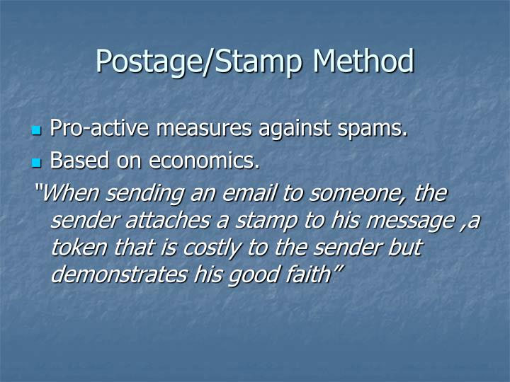 Postage/Stamp Method