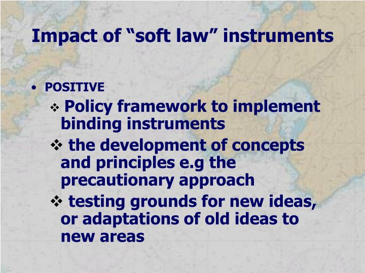 "Impact of ""soft law"" instruments"