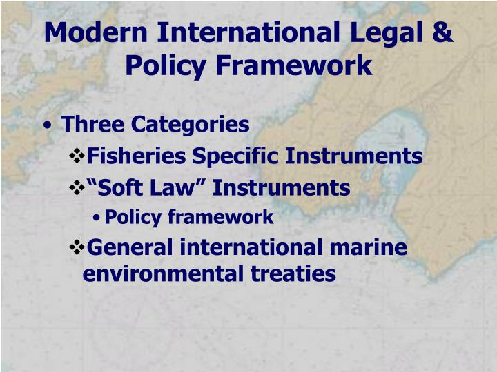 Modern International Legal & Policy Framework