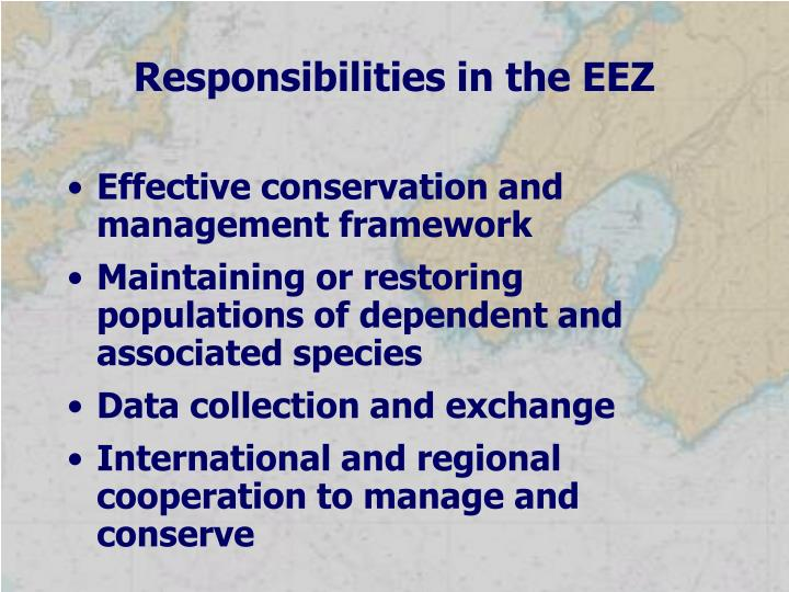 Responsibilities in the EEZ