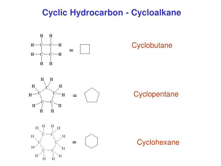 Cyclic Hydrocarbon - Cycloalkane