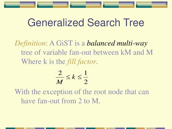 Generalized Search Tree