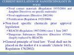 current regulation of nanotechnology in food1