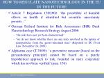 how to regulate nanotechnology in the eu in the future3