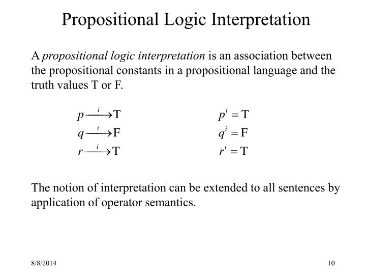 Propositional Logic Interpretation