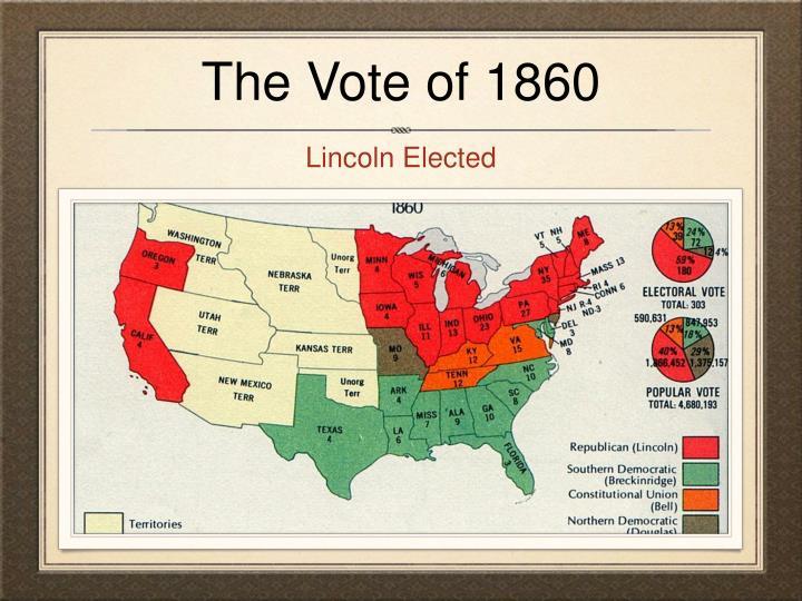 The Vote of 1860