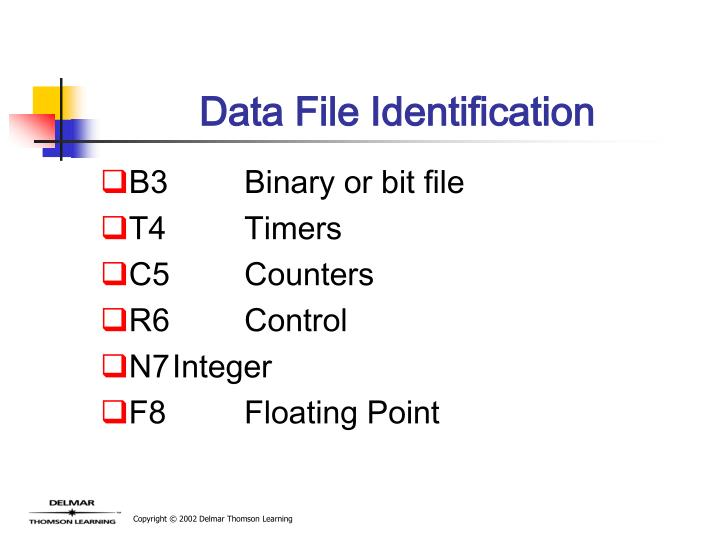 Data File Identification