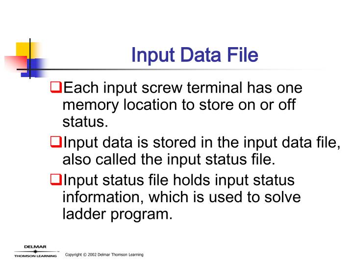 Input Data File
