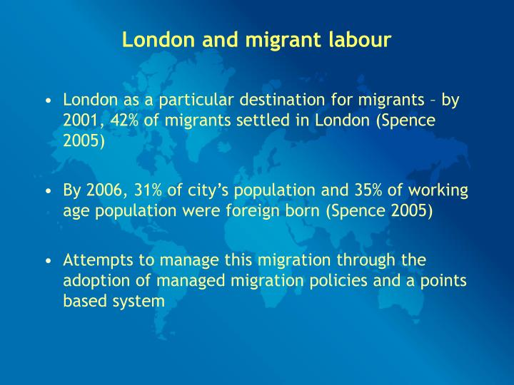 London and migrant labour