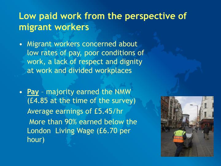 Low paid work from the perspective of migrant workers