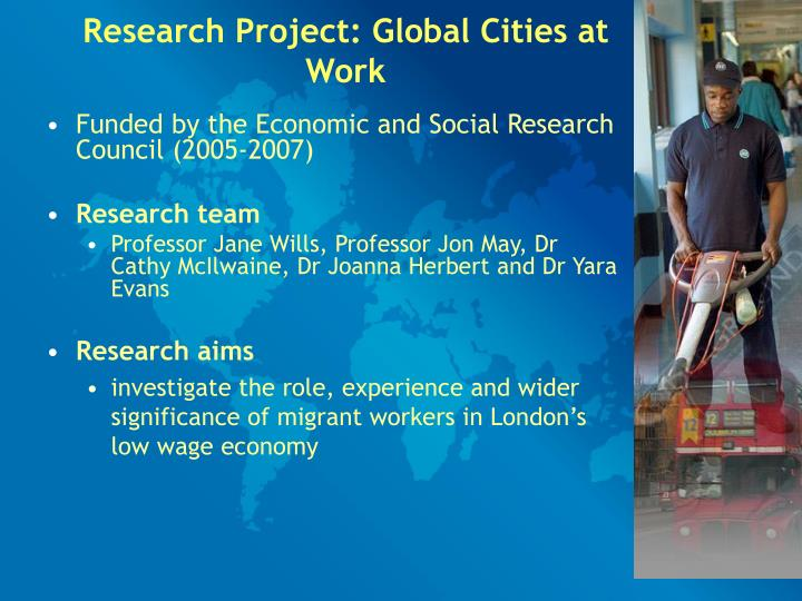 Research Project: Global Cities at Work