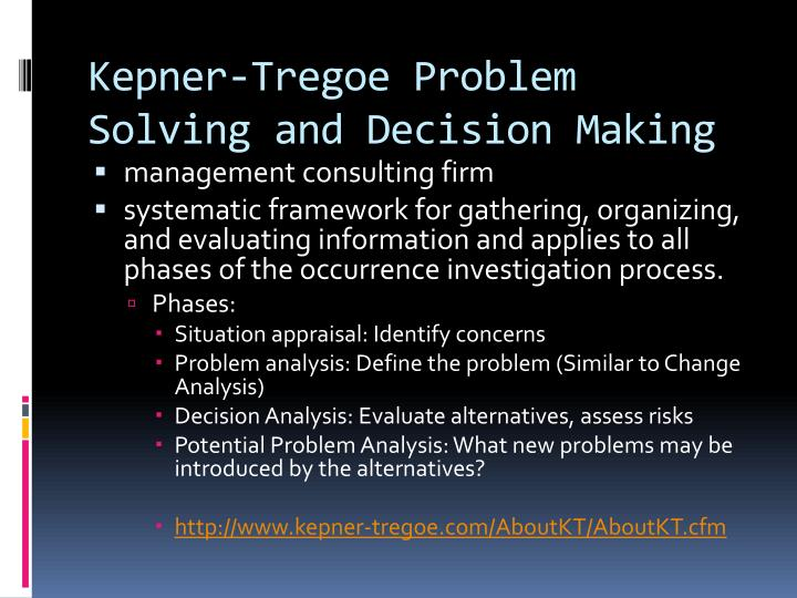 problem solving various management situations essay
