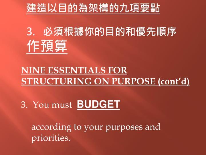 建造以目的為架構的九項要點