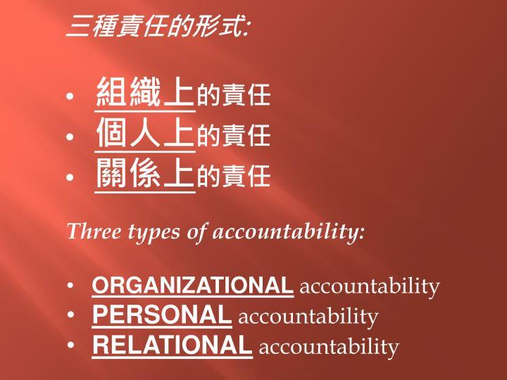 三種責任的形式