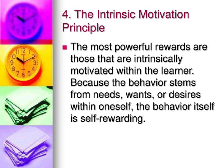 4. The Intrinsic Motivation   Principle