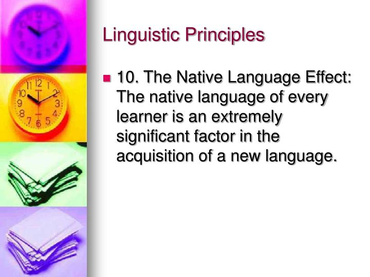 Linguistic Principles