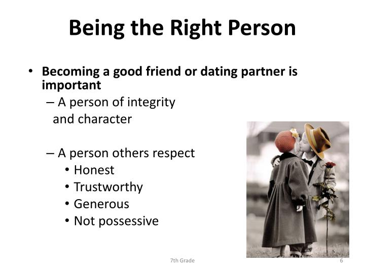 Being the Right Person