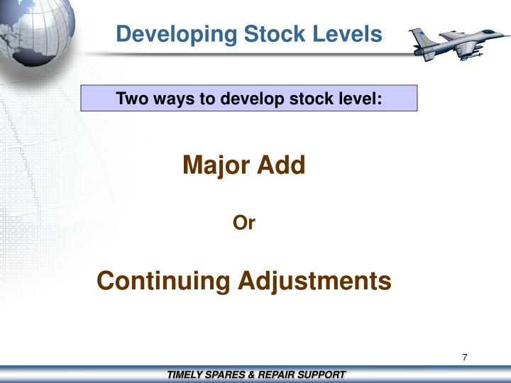 Developing Stock Levels