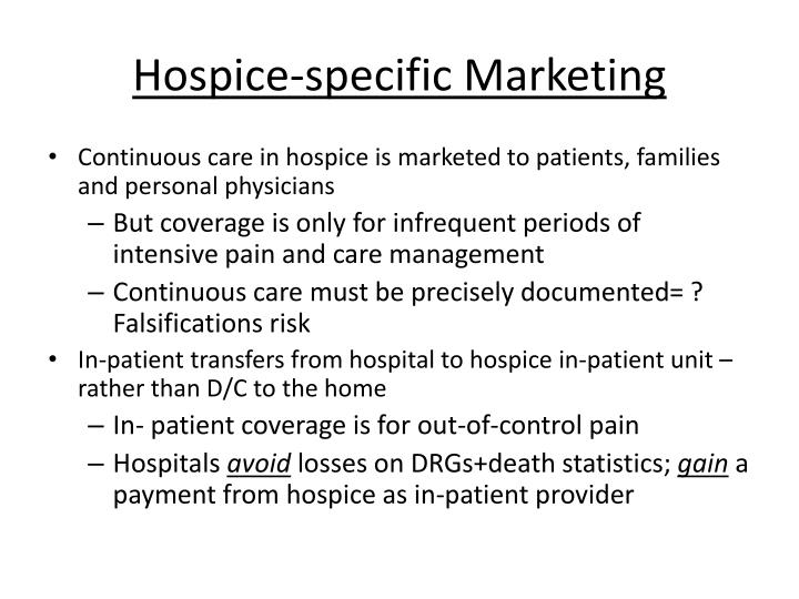 Hospice-specific Marketing