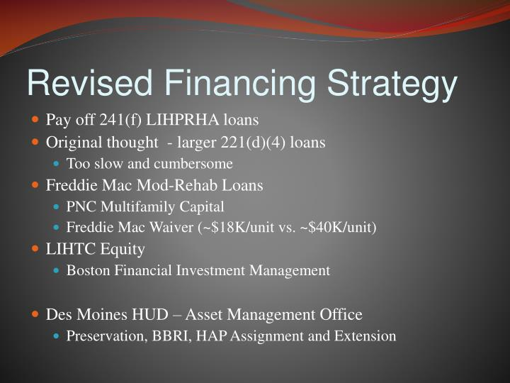 Revised Financing Strategy