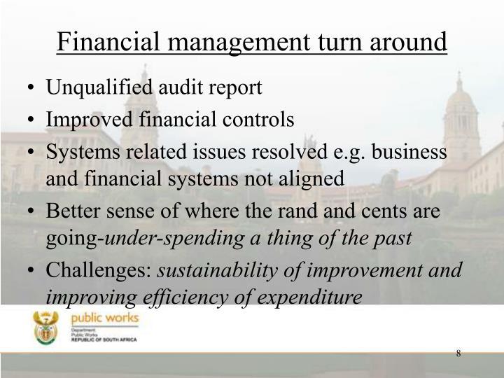 Financial management turn around
