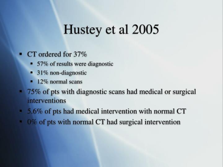 Hustey et al 2005