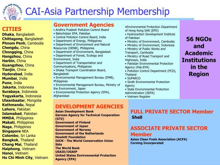 CAI-Asia Partnership Membership