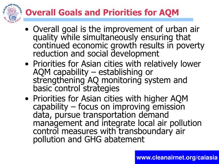 Overall Goals and Priorities for AQM